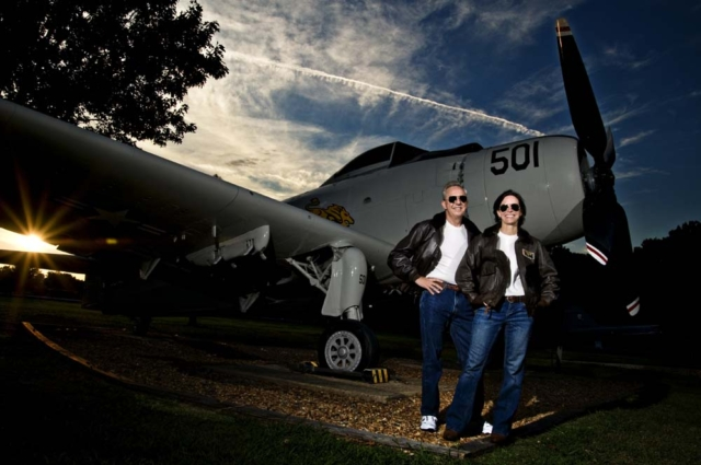 Nave pilots in front of Oceana Naval Base in Virginia Beach Virginia with Virginia Beach Photographer
