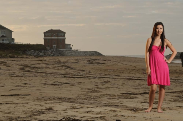 Senior Portrait on the Beach in Virginia Bech Virginia with a Virginia Beach Photographer