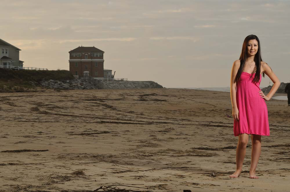 Senior Portrait on the Beach in Virginia Bech Virginia