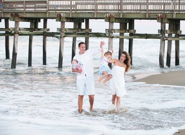 Beach Photography of a family in Sandbridge Virginia