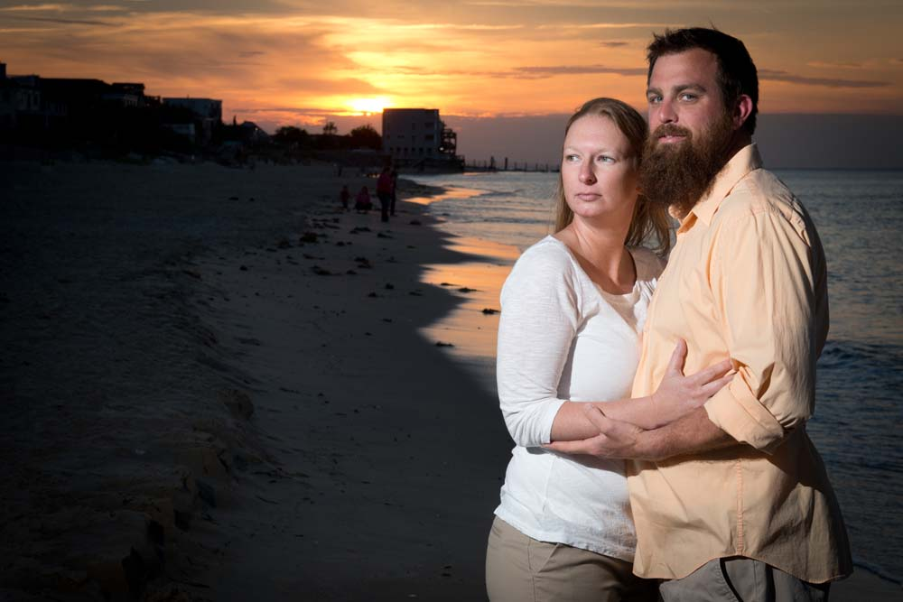 Engagement session on the beach in Virginia Beach
