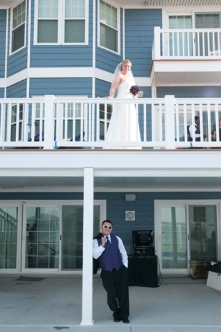 First loook at sandbridge rental property before their wedding