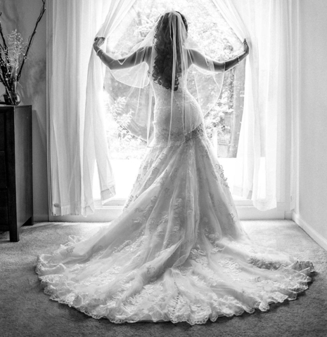 Virginia Beach Bride in her home before her waterman's wedding