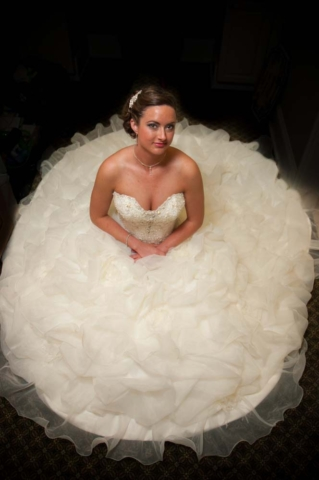 Bridal portrait in Virginia Beach Virginia at the signature golf course