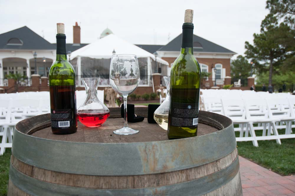 Toasting wine at the Signature in Virginia Beach
