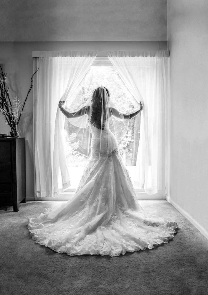 bride in her home before wedding