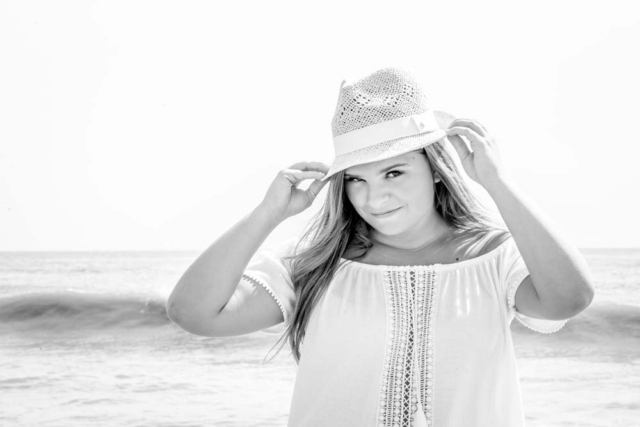 Senior Portrait on the beach at the Virginia Beach oceanfront in Virginia Beach Virginia with a Virginia Beach Senior Portrait Photographer