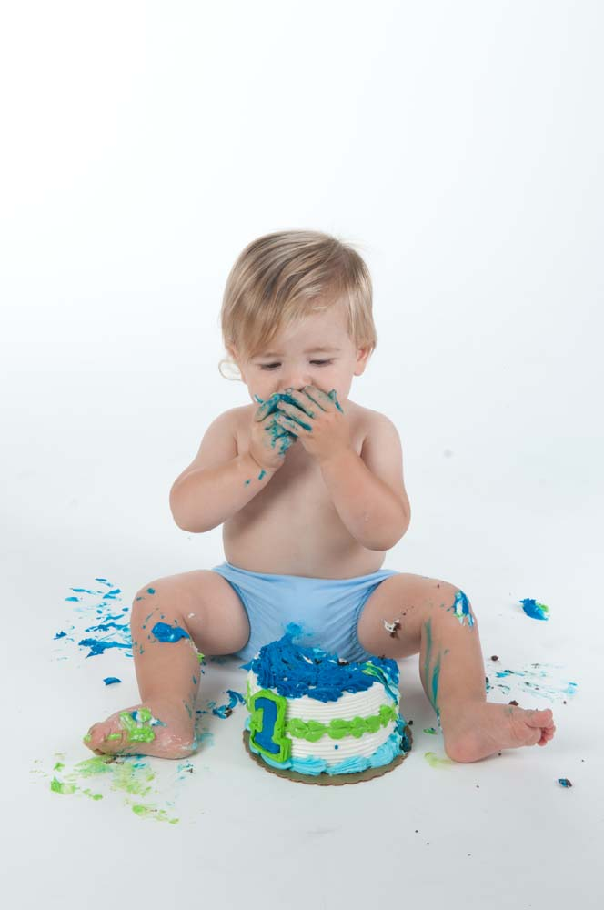 Crush the cake at one year in Virginia Beach Virginia