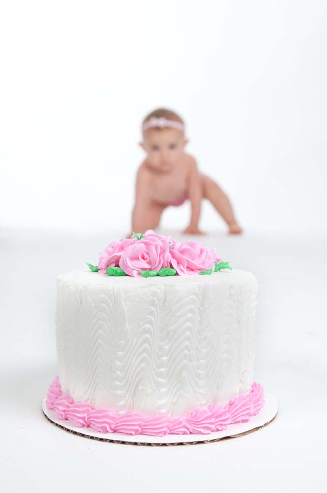 Crush the cake session in Virginia Beach Virginia with  cake and baby